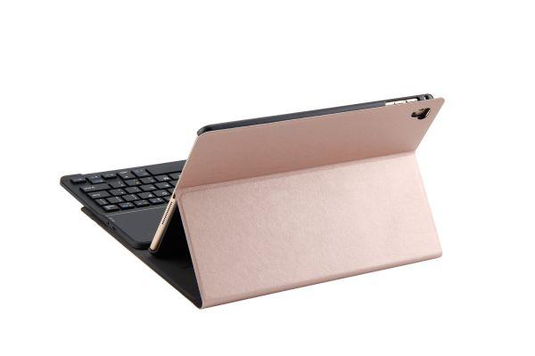 iPad 9.7 2018 hoes met toetsenbord ultra slim deluxe rose goud