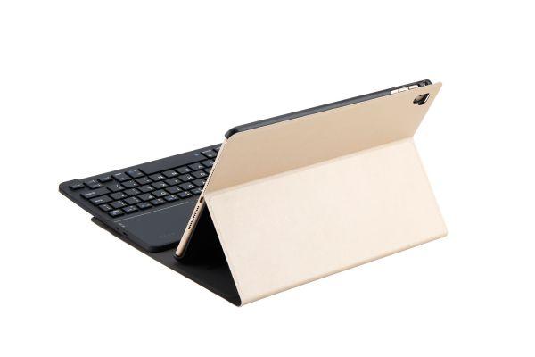 iPad 9.7 2018 hoes met toetsenbord ultra slim deluxe goud