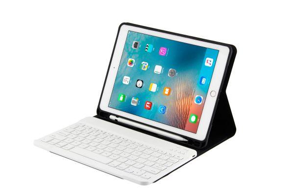 iPad 9.7 2017 hoes met toetsenbord ultra slim ultra protection rose goud
