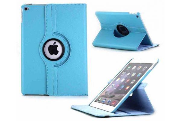 iPad Air 2 PU leren Draaibare Hoes licht blauw