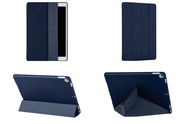 iPad 2019 10.2 inch Book Cover Origami Donker Blauw