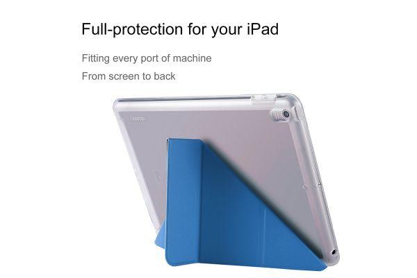iPad 9.7 (2018) Flipstand cover heavy duty TPU blauw