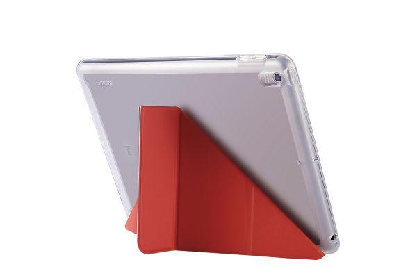iPad 9.7 (2017) Book cover heavy duty TPU rood