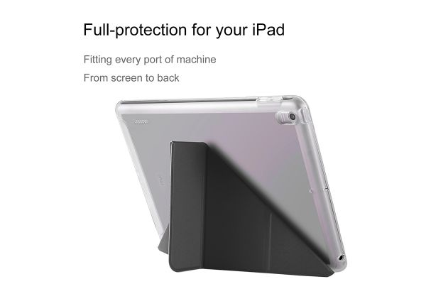 iPad 9.7 (2017) Flipstand cover heavy duty TPU zwart