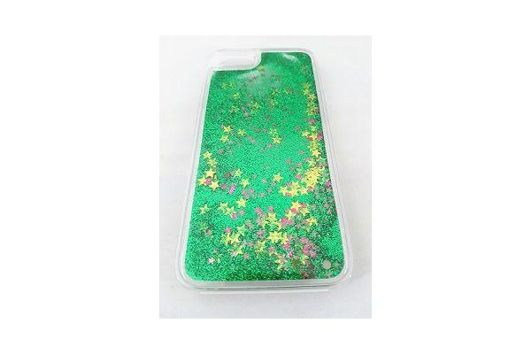 Iphone 7 bewegende glitter hoes groen