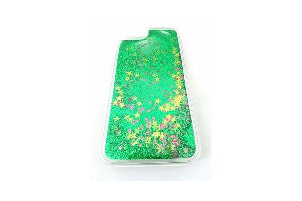 Samsung S7 edge bewegende glitter hoes groen