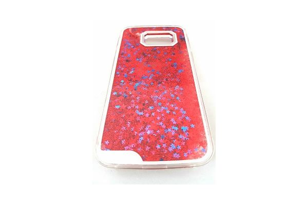 Iphone 7 bewegende glitter hoes rood