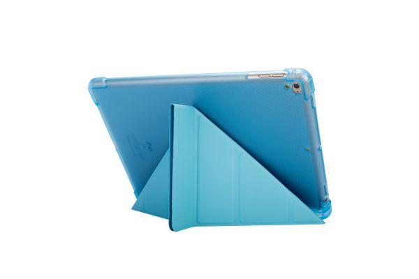 iPad Air Book Cover Origami Heavy Duty TPU Blauw