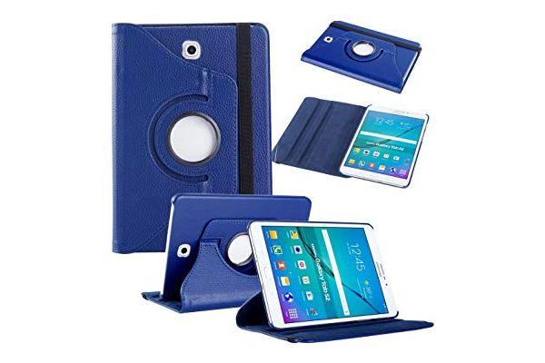 Samsung Galaxy Tab S2 8.0 inch PU leer Draaibare Hoes Blauw