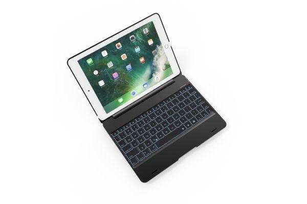 iPad 2018 9.7 inch Laptop Case Bluetooth verlicht Toetsenbord Zwart