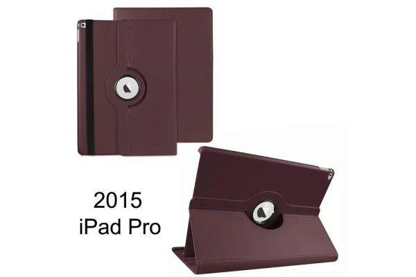 iPad Pro 12.9 inch Draaibare Hoes Bruin kunstleer