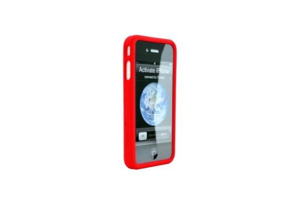 iPhone 4 Siliconen Bumper Rood