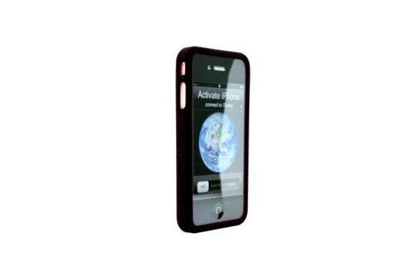 iPhone 4 / 4 S Siliconen Bumper Zwart