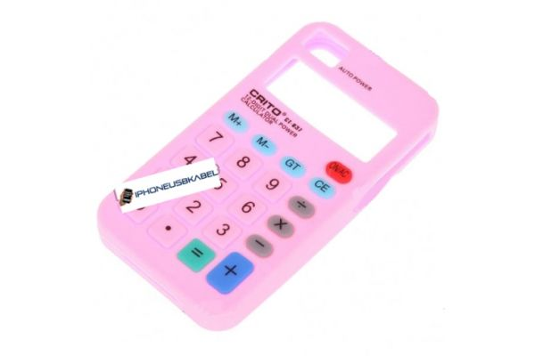 iPhone 4 | 4S Hoesje Siliconen Calculator Roze