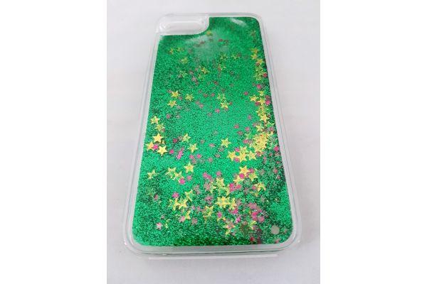 Samsung S7 bewegende glitter hoes groen