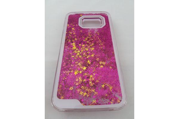 Samsung S7 bewegende glitter hoes paars