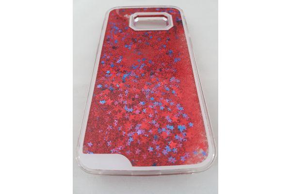 Samsung S7 bewegende glitter hoes rood