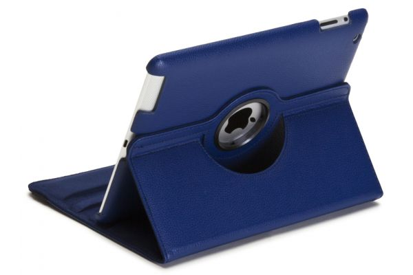 iPad Air 1 PU leren Draaibare Hoes blauw