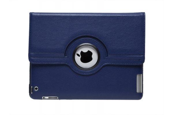 iPad Mini 1-2-3 PU Leren Draaibare Hoes Donkerblauw