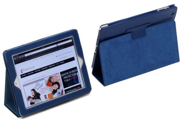 iPad 2017 9.7 Book Cover PU leer Donkerblauw