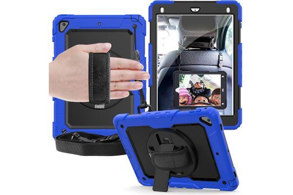 iPad 2018 9.7 inch draaibare Bumper Case blauw