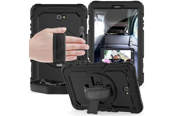 Samsung Tab A 10.1 model 2016 draaibare Bumper Case zwart