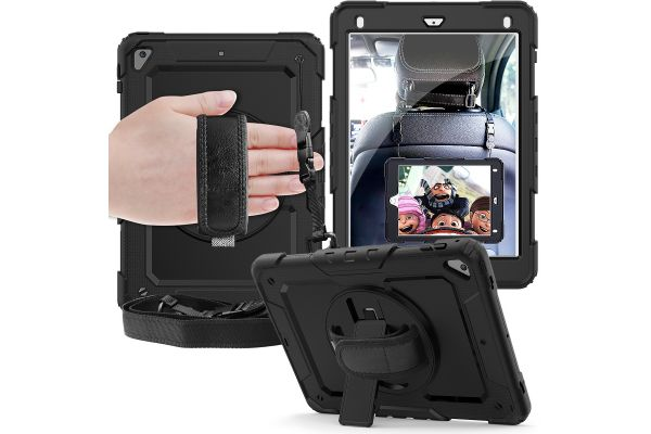 iPad 2018 9.7 inch draaibare Bumper Case zwart