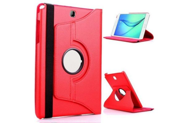 Samsung hoes Tab S2 (9.7) Draaibare Hoes Rood