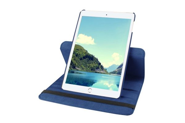 iPad Mini 4 Leren Draaibare Hoes Blauw