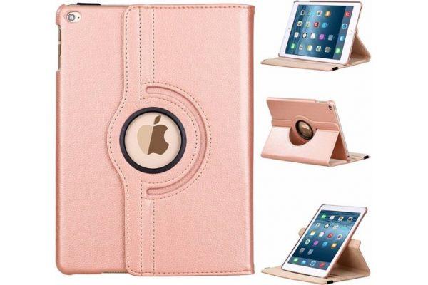 iPad Air 2 PU leren Draaibare Hoes Rose goud