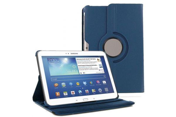 Tablet PU Leer Samsung Tab 2 10.1 inch Draaibare Hoes Blauw