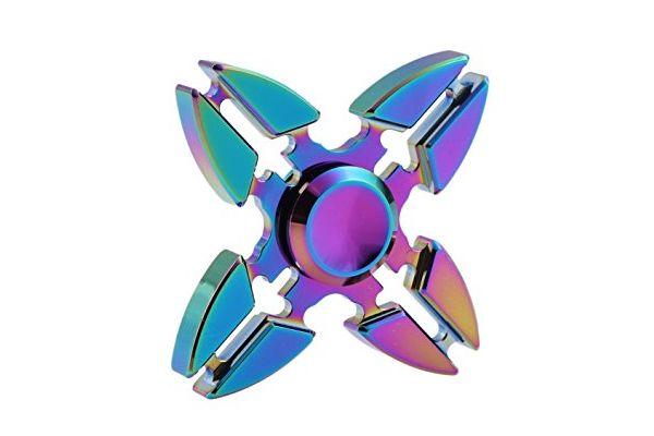 Fidget Spinner 4 arm spinner aluminum O
