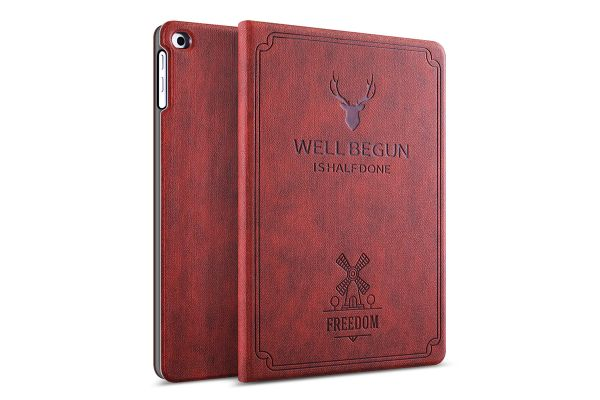 iPad Air 2 design hoes bruin/rood FREEDOM