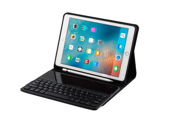 iPad air hoes met toetsenbord ultra slim ultra protection deluxe zwart
