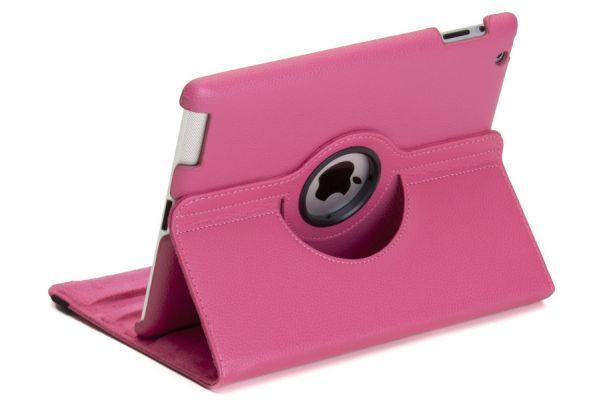 iPad Air 1 PU Leer Draaibare Hoes Fuchsia