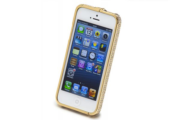 Bumper Case iPhone 4/ 4S Gold met Swarovski Crystals