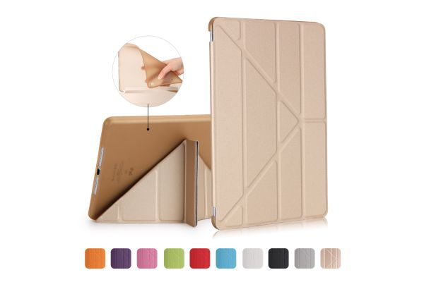 iPad 2-3-4 Book Cover Origami Goud