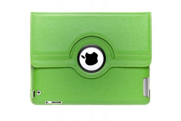 iPad Mini 1-2-3 PU Leren Draaibare Hoes Groen