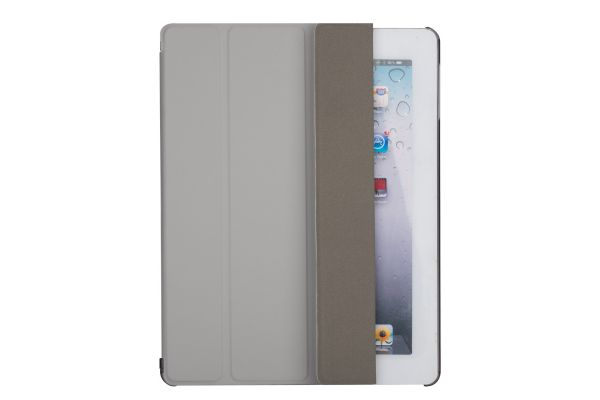 iPad 2-3-4 Hard Tri-Fold Book Cover grijs