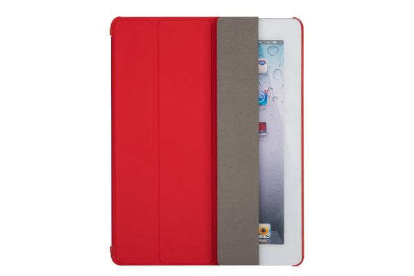 iPad 2-3-4 Hard Tri-Fold Book Cover Rood