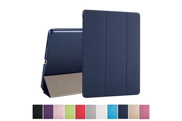 iPad Air 2 Hard Tri-Fold Book Cover Donker blauw