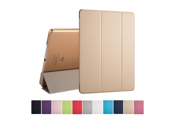 iPad 2017 9.7 inch Hard Tri-Fold Book Cover Goud