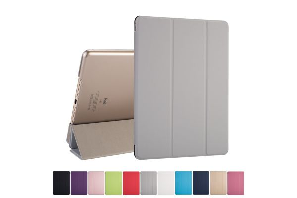 iPad 2018 9.7 inch Hard Tri-Fold Book Cover Grijs