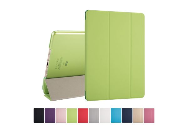 iPad 2018 9.7 inch Hard Tri-Fold Book Cover Groen