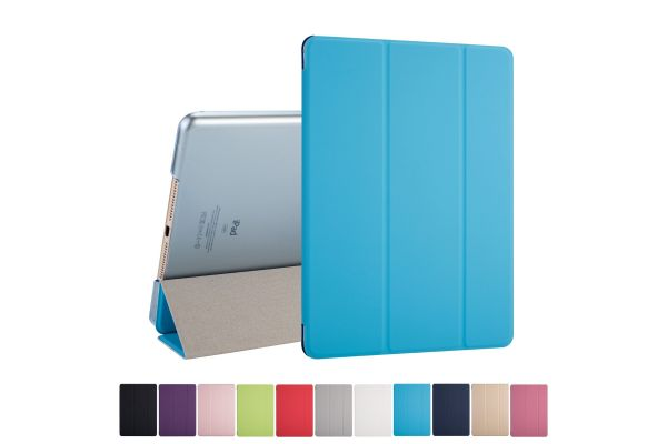 iPad Air Hard Back Book Cover Blauw