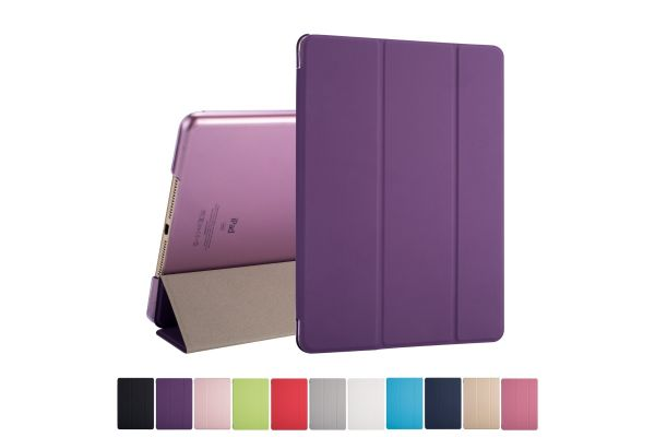 iPad 2018 9.7 inch Hard Tri-Fold Book Cover Paars