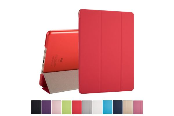 iPad 2018 9.7 inch Hard Tri-Fold Book Cover Rood