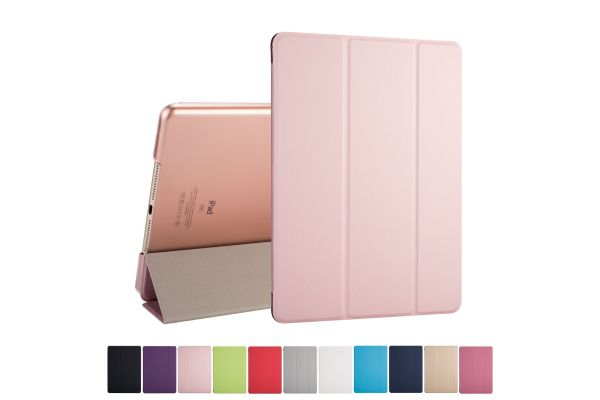 iPad Air 2 Hard Tri-Fold Book Cover Rose Goud