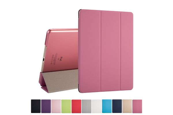 iPad 2018 9.7 inch Hard Tri-Fold Book Cover Roze