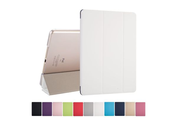 iPad 2018 9.7 inch Hard Tri-Fold Book Cover Wit
